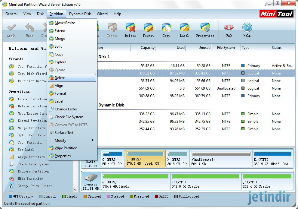 MiniTool Partition Wizard Home Edition 2