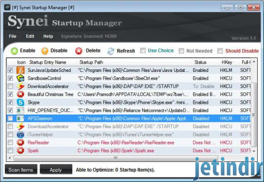 Synei Startup Manager 0