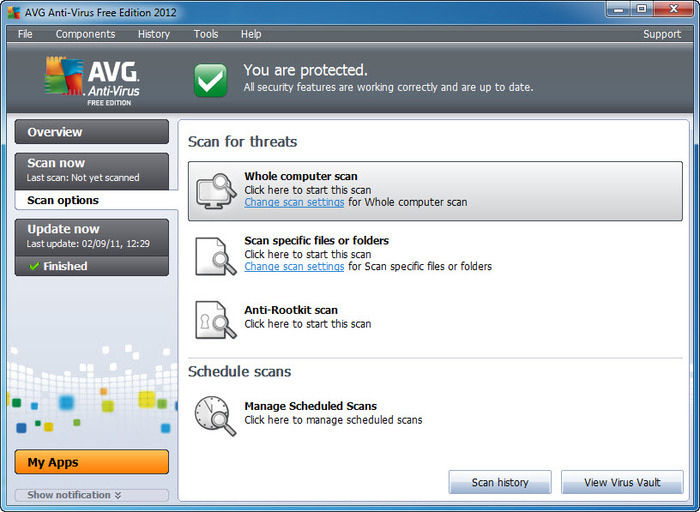 AVG Anti-Virus Free Edition 2