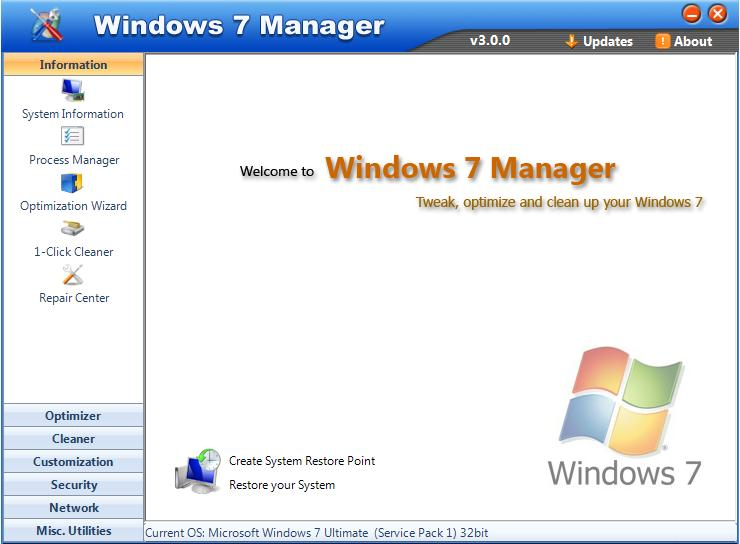 Windows 7 Manager 0